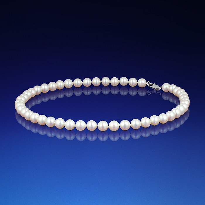 758f3da57 Klasický biely perlový náhrdelník AA-8   LEOLA.sk
