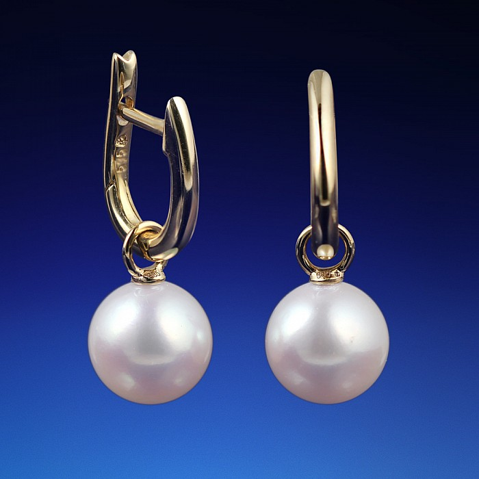 640c0dc5d Zlaté náušnice Kate s perlou Akoya   LEOLA.sk